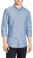Scotch & Soda Men's Extra Slim Fit Triangle Chambray Shirt