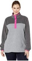 Columbia Plus Size Benton Springstm 12 Snap Pullover (Light Grey Heather/Shark) Women's Long Sleeve Pullover