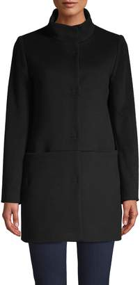 Cinzia Rocca Long-Sleeve Wool-Blend Coat