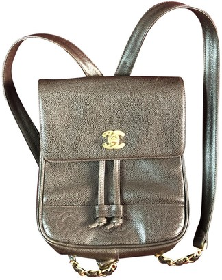 Chanel Brown Leather Backpacks