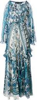 Roberto Cavalli floral print maxi dress - women - Silk - 42