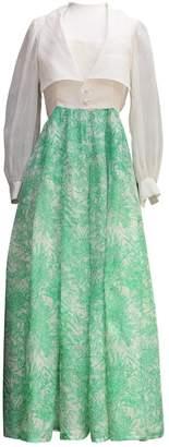 Nina Ricci Green Silk Dress for Women Vintage