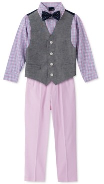 Nautica Toddler Boys 4-Pc. Twill Oxford Vest Set
