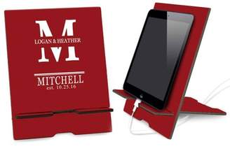 Monogram Online Couples Red Custom Book and iPad Stand