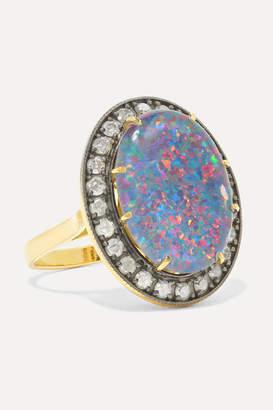 Andrea Fohrman Kat 18-karat Gold, Opal And Diamond Ring