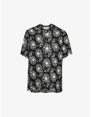 Gucci Star-print silk shirt