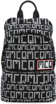McQ by Alexander McQueen Black & White Logo Classic Backpack