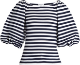 Sonia Rykiel Balloon-sleeved striped top