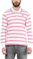 American Crew Men's Polo Collar Long Sleeves Stripes T-Shirt -L (AC052FS-L)