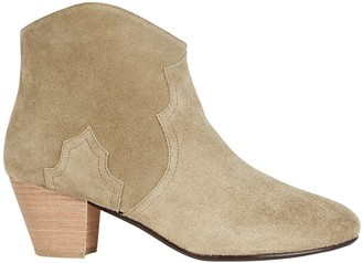 Isabel Marant Dicker Suede Cowboy Boots