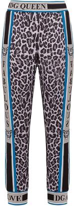 Dolce & Gabbana Leopard-Print Panel Track Pants