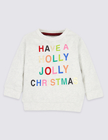 Marks and Spencer Pure Cotton Christmas Sweatshirt