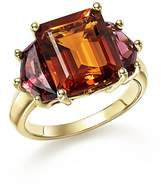 Bloomingdale's Citrine and Garnet Statement Ring in 14K Yellow Gold