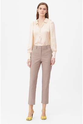 Rebecca Taylor Tailored Houndstooth Suiting Pant