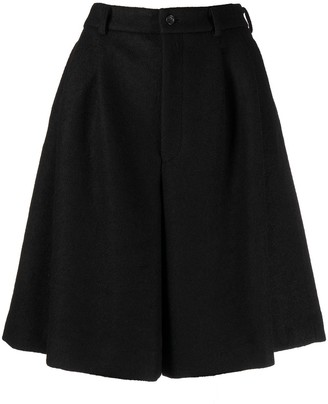 Comme des Garcons pleated wool A-line shorts