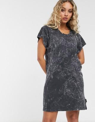 Cheap Monday Media washed dye t-shirt dress-Black