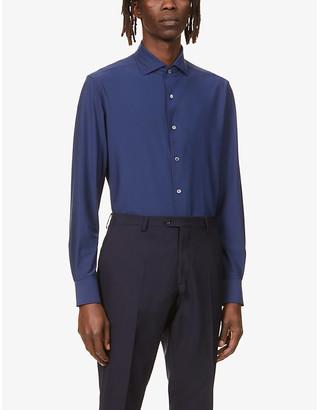 Corneliani Regular-fit stretch-jersey shirt
