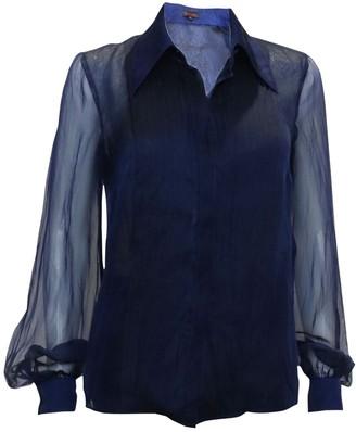 Escada Navy Silk Top for Women
