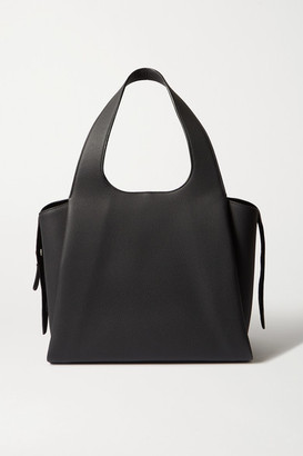 The Row Tr1 Large Textured-leather Tote - Black