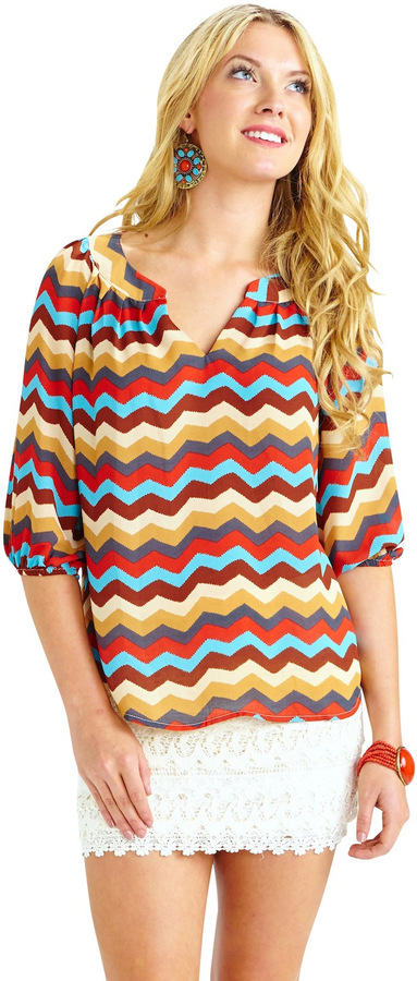 Langford Market Transitional Chevron Top