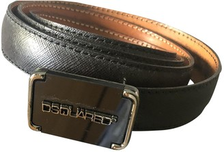 DSQUARED2 Black Leather Belts