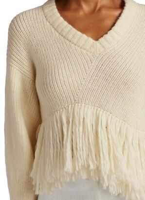 Alejandra Alonso Rojas Fringe Hem Sweater