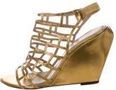 Jean-Michel Cazabat Metallic Cage Sandals