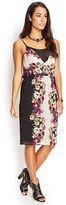 Forever 21 Drapey Floral Surplice Dress