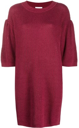 See by Chloe Knitted Short-Sleeve Dress