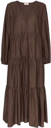 Matteau V-neck tiered maxi-dress