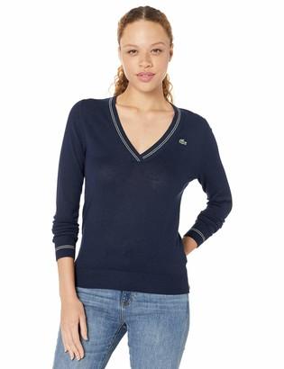 Lacoste Womens Sport Technical Semi Fancy Golf Sweater Sweater
