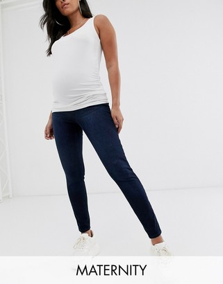 Spanx Mama ankle grazer jeggings in indigo