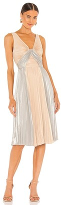 BCBGMAXAZRIA Pleated Mini Dress