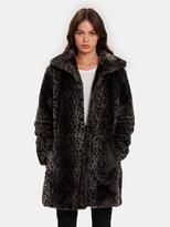 John & Jenn Otis Faux Fur Leopard Coat