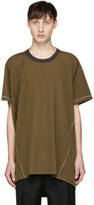 Lanvin Green Basic Long T-Shirt