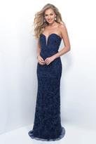 Blush Lingerie Beaded Sweetheart Tulle Sheath Dress 11206
