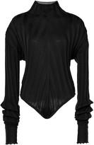 Boyarovskaya Ribbed High-Neck Cotton Bodysuit