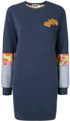 A Bathing Ape Contrast-Panel Mini Sweatshirt