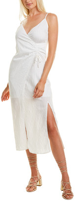 SUBOO Cruz Gathered Slip Midi Dress
