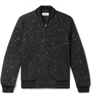 Saint Laurent Embellished Woven Bomber Jacket