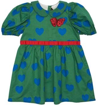 Mini Rodini Heart Print Organic Cotton Dress