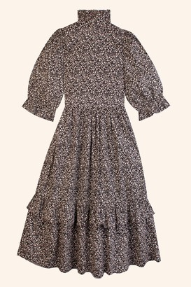 Meadows Clematis Black Floral Dress - black | White | cotton | sz 10 - Black/Black