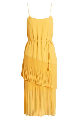 Chelsea28 Ruffle Tie Waist Midi Dress