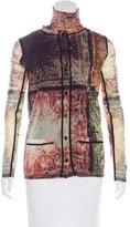 Jean Paul Gaultier Abstract Print Cardigan Set