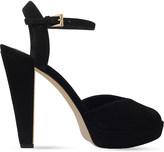 MICHAEL Michael Kors Claire suede peep-toe sandals