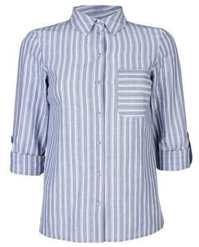 Dorothy Perkins Womens Dp Petite Blue And White Stripe Shirt, Blue