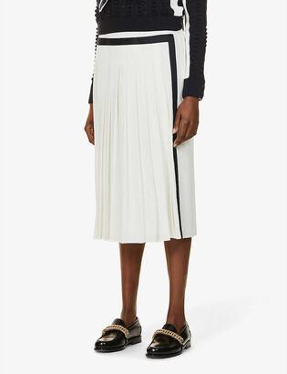 Max Mara Pinne high-rise crepe midi skirt