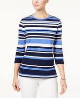 Karen Scott Striped Active Top, Only at Macy's