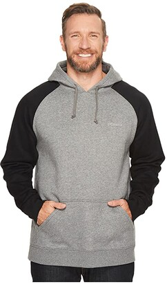 Columbia Big Tall Hart Mountain II Hoodie (Charcoal Heather/Black) Men's Sweatshirt