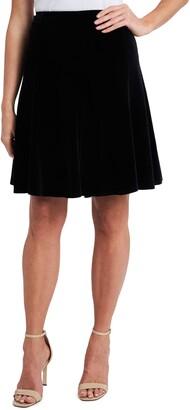 CeCe Velvet Flare Skirt